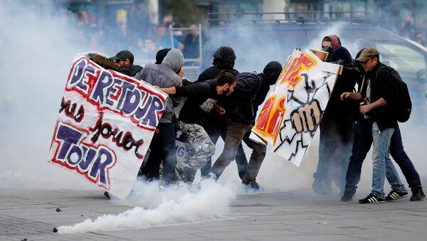 Fransa - Protesto - Sputnik Türkiye