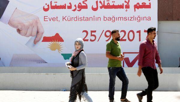 Kerkük'te IKBY bağımsızlık referandumu afişleri - Sputnik Türkiye