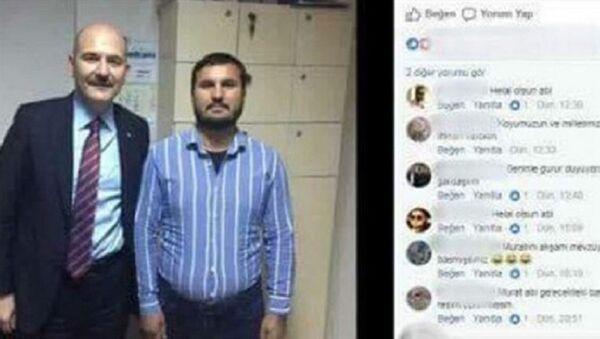 Aysel Tuğluk'un annesinin cenazesine saldıran bir kişinin, Bakan Süleyman Soylu ile çektirdiği fotoğraf ortaya çıktı. - Sputnik Türkiye