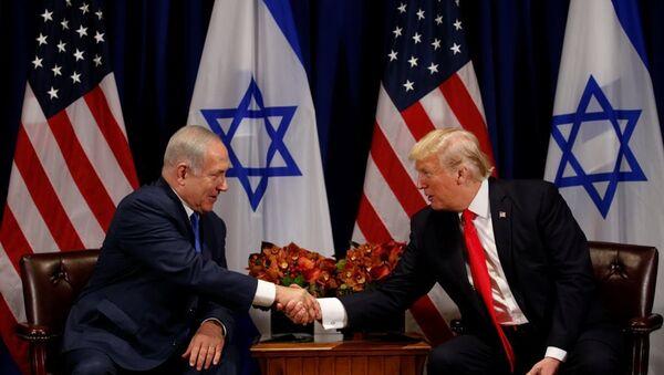 İsrail Başbakanı Benyamin Netanyahu - ABD Başkanı Donald Trump - Sputnik Türkiye