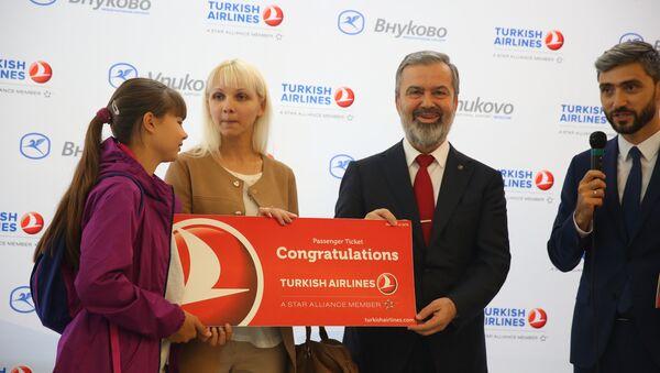 THY'den 1 milyonuncu Moskova-Türkiye yolcusuna sürpriz - Sputnik Türkiye