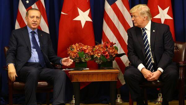Cumhurbaşkanı Recep Tayyip Erdoğan ve ABD Başkanı Donald Trump - Sputnik Türkiye