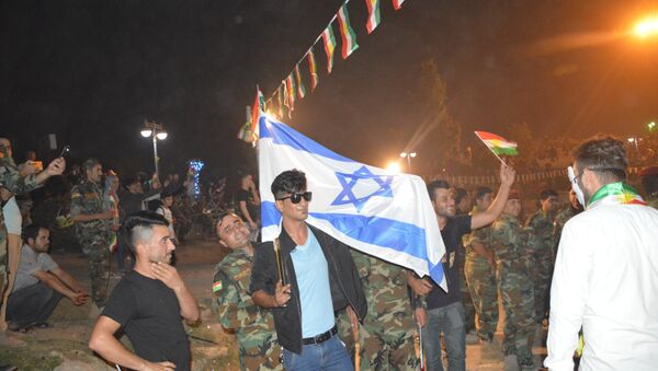 Erbil-İsrail bayrağı - Sputnik Türkiye