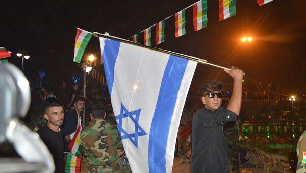 Erbil'deki bağımsızlık referandumu kutlamalarında İsrail bayrağı açıldı - Sputnik Türkiye