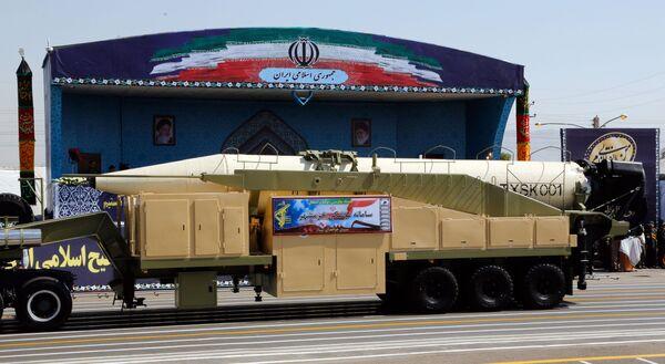 İran'ın yeni uzun menzilli balistik füze Khoramshahr - Sputnik Türkiye