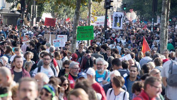 Fransa'da protesto - Sputnik Türkiye
