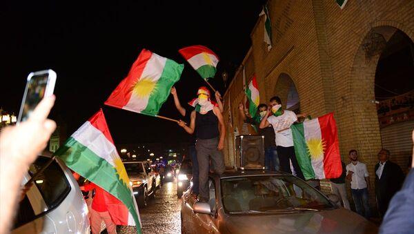 Erbil'de referandum kutlamaları - Sputnik Türkiye
