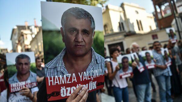 İstanbul'da Hamza Yalçın protestosu - Sputnik Türkiye
