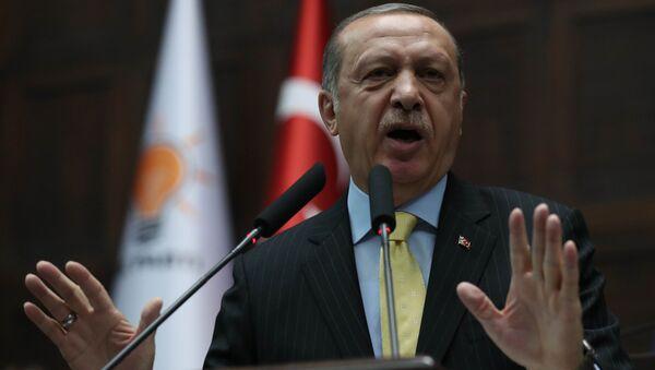 AK Parti Genel Başkanı ve Cumhurbaşkanı Recep Tayyip Erdoğan - Sputnik Türkiye
