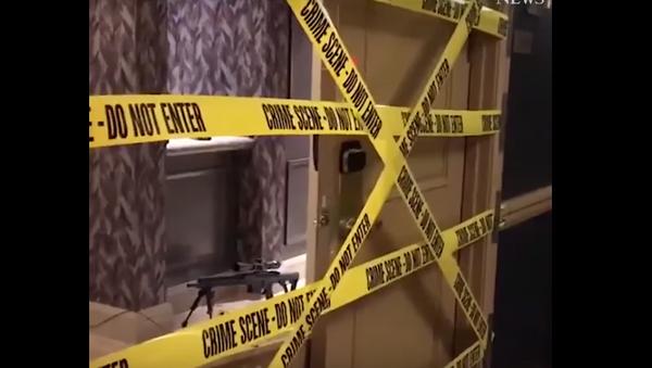 Las Vegas'taki saldırının gerçekleştiği odadan görüntüler - Sputnik Türkiye
