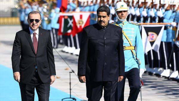 Cumhurbaşkanı Recep Tayyip Erdoğan, Venezüella Devlet Başkanı Nicolas Maduro - Sputnik Türkiye