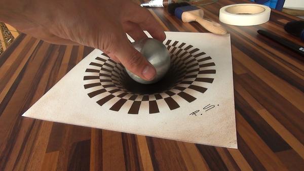 Hole 3d drawing illusion painting - Sputnik Türkiye