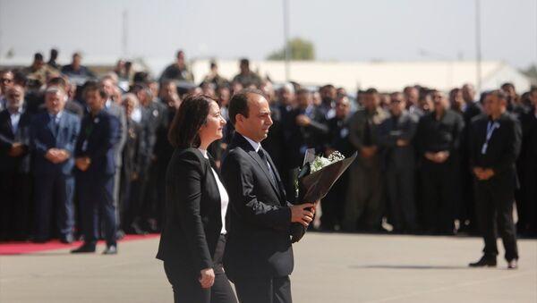 HDP Eş Genel Başkanı Serpil Kemalbay ve Parti Sözcüsü Osman Baydemir Celal Talabani'nin cenazesinde - Sputnik Türkiye