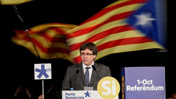 Carles Puigdemont, el presidente catalán - Sputnik Türkiye