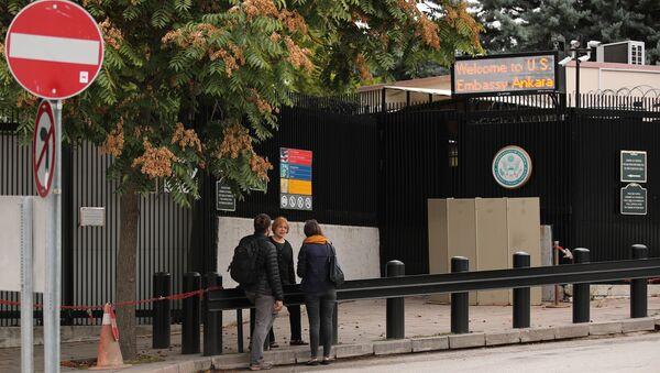 ABD Ankara Büyükelçiliği, vize başvuru merkezi girişi - Sputnik Türkiye