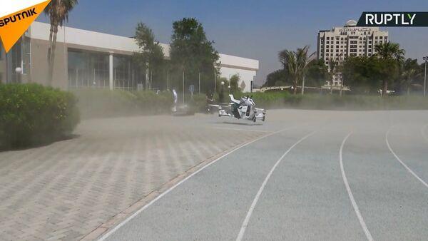 Dubai'de uçan motosiklet tanıtıldı - Sputnik Türkiye