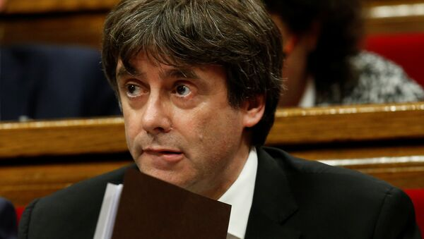 Katalonya Başkanı Carles Puigdemont - Sputnik Türkiye