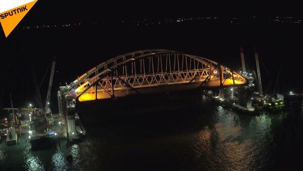 Kerç Köprüsü'nün (Kırım Köprüsü) yol arkı - Sputnik Türkiye