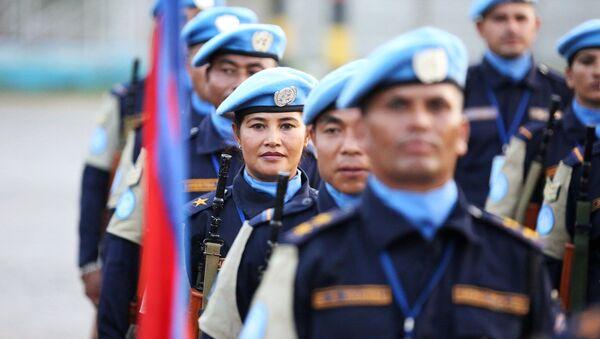 Haiti'de görev yapan Nepalli Birleşmiş Milletler barış gücü misyonu (MINUSTAH) askerleri - Sputnik Türkiye