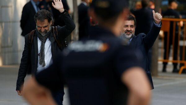 Katalonya Ulusal Asamblesi (ANC) Başkanı Jordi Sanchez ve Omnium Cultural Başkanı Jordi Cuixart - Sputnik Türkiye