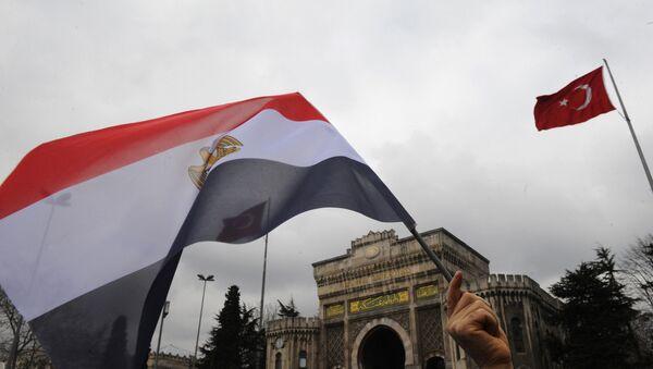 Mısır-Türkiye bayrakları - Sputnik Türkiye