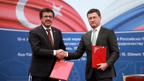 Ekonomi Bakanı Nihat Zeybekci ve Rusya Enerji Bakanı Aleksandr Novak - Sputnik Türkiye
