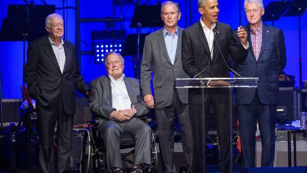 Eski ABD Başkanları Jimmy Carter, George H.W. Bush, Bill Clinton, George W. Bush, Barack Obama - Sputnik Türkiye
