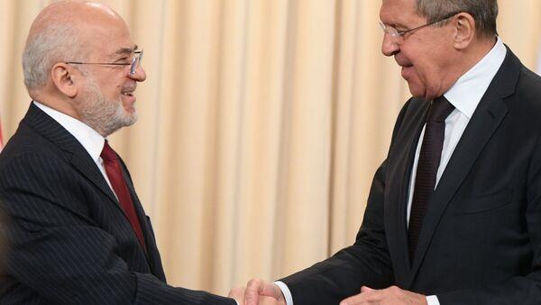 Irak Dışişleri Bakanı İbrahim Caferi ve Rusya Dışişleri Bakanı Sergey Lavrov - Sputnik Türkiye