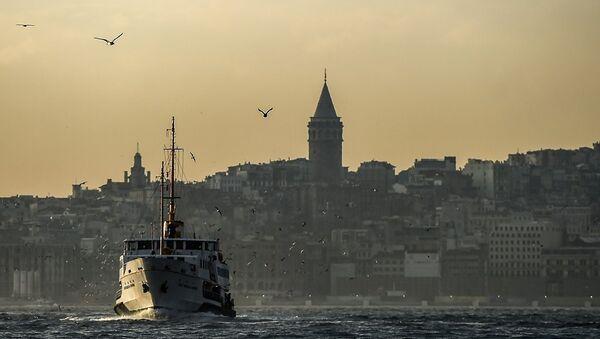 Galata Kulesi - İstanbul Boğazı - Sputnik Türkiye