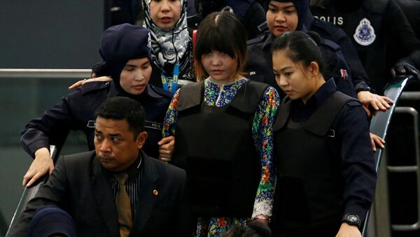 Kim Jong-nam suikasti zanlılarından Vietnamlı Doan Thi Huong - Sputnik Türkiye