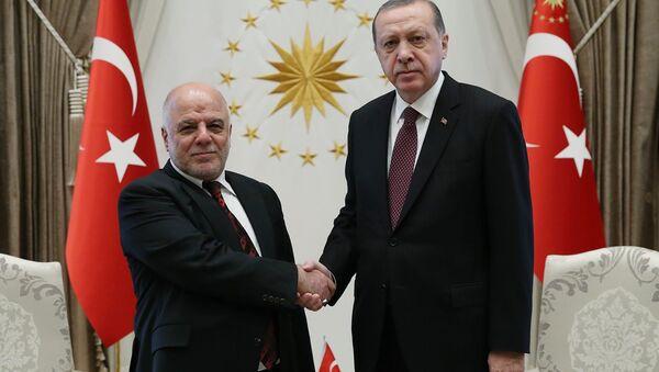 Irak Başbakanı Haydar el İbadi- Cumhurbaşkanı Recep Tayyip Erdoğan - Sputnik Türkiye