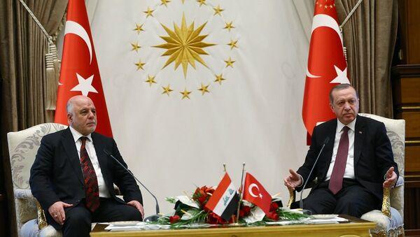 Cumhurbaşkanı Recep Tayyip Erdoğan ve Irak Başbakanı Haydar el İbadi - Sputnik Türkiye