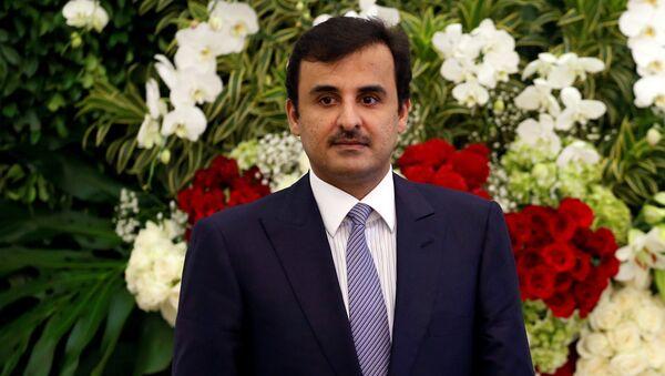 Katar Emiri Şeyh Şeyh Tamim bin Hamad el Sani - Sputnik Türkiye