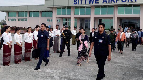 Myanmar lideri Aung San Suu Kyi Arakan'da - Sputnik Türkiye