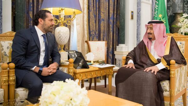 İstifa eden Lübnan Başbakanı Saad el Hariri- Suudi Kral Selman - Sputnik Türkiye
