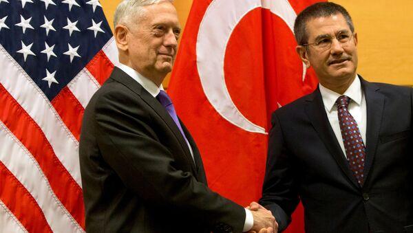 Milli Savunma Bakanı Nurettin Canikli-ABD Savunma Bakanı James Mattis - Sputnik Türkiye