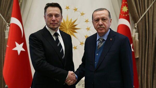 Cumhurbaşkanı Recep Tayyip Erdoğan ve Elon Musk - Sputnik Türkiye