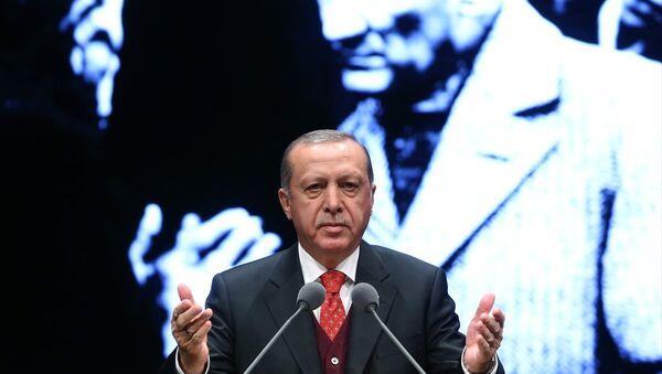 Atatürk'ü anma töreninde konuşan Cumhurbaşkanı Recep Tayyip Erdoğan - Sputnik Türkiye