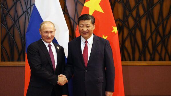 Rusya Devlet Başkanı Vladimir Putin- Çin Devlet Başkanı Şi Cinping - Sputnik Türkiye