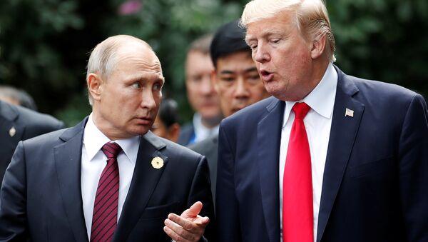 ABD Başkanı Donald Trump-Rusya Devlet Başkanı Vladimir Putin - Sputnik Türkiye