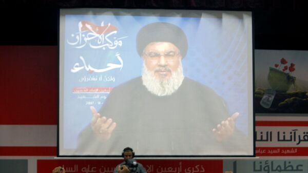 Lübnan Hizbullah'ı lideri Seyid Hasan Nasrallah - Sputnik Türkiye