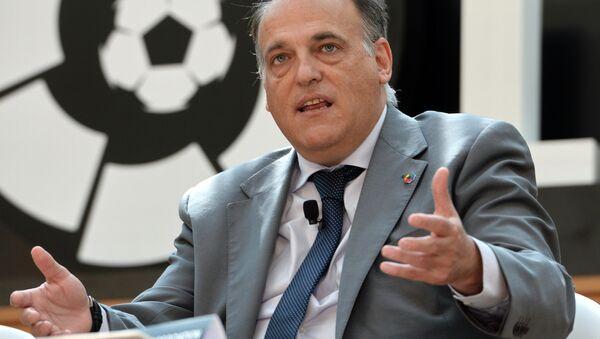 İspanya Profesyonel Futbol Ligi (LFP) Başkanı Javier Tebas, - Sputnik Türkiye