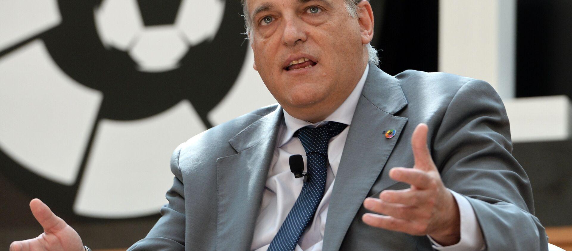 İspanya Profesyonel Futbol Ligi (LFP) Başkanı Javier Tebas, - Sputnik Türkiye, 1920, 22.04.2021