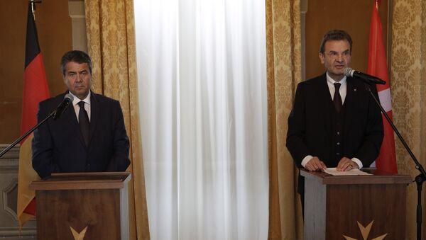 Almanya Dışişleri Bakanı Sigmar Gabriel ile İtalya Dışişleri Bakanı Angelino Alfano - Sputnik Türkiye