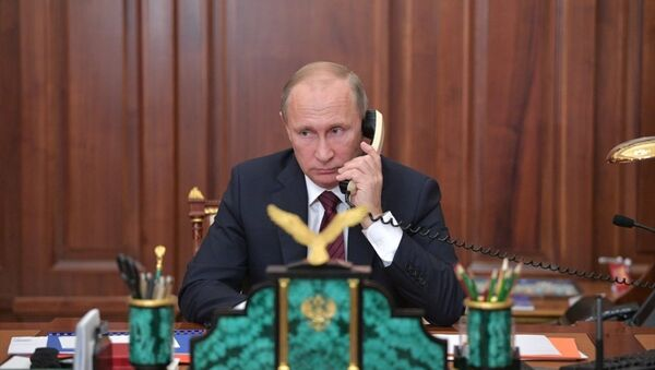 Rusya Devlet Başkanı Vladimir Putin - telefon - Sputnik Türkiye