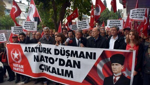 Vatan Partisi'nden NATO eylemi - Sputnik Türkiye