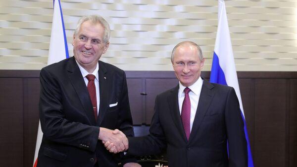 Rusya Devlet Başkanı Vladimir Putin- Çekya Devlet Başkanı Milos Zeman - Sputnik Türkiye