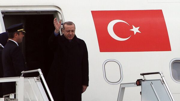 Cumhurbaşkanı Recep Tayyip Erdoğan - Uçak - Sputnik Türkiye