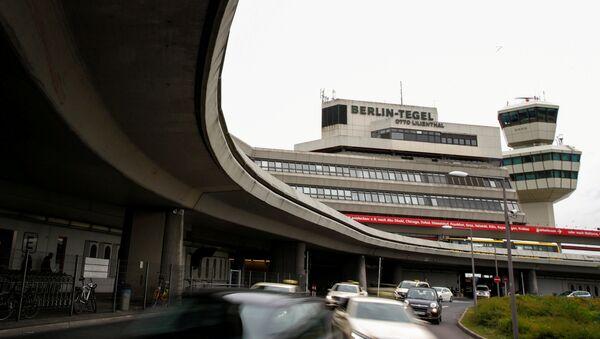 The main building and tower of Tegel Airport seen in Berlin, Germany - Sputnik Türkiye