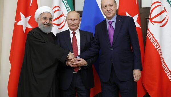 Üç liderin Soçi'deki zirvesi fotoğraflarda - Sputnik Türkiye